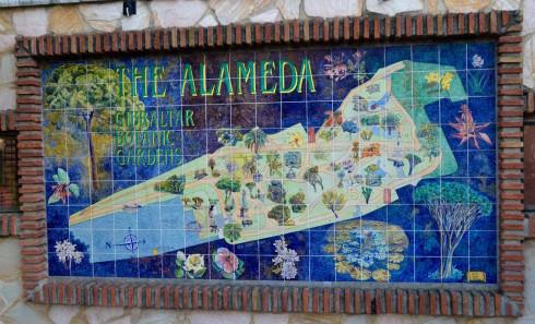 Map of the Gibraltar Alameda