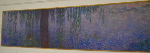 Monet - Water Lilies - Clear Morning with Willows - The Orangerie