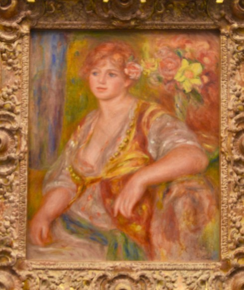 Renoir - Blond Girl with Rose - The Orangerie