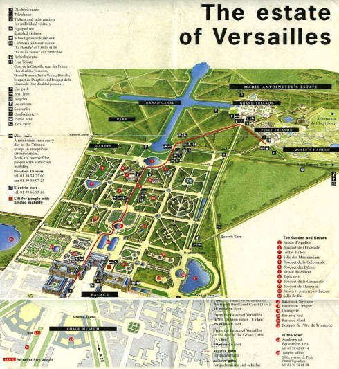 Map of Versailles Estate