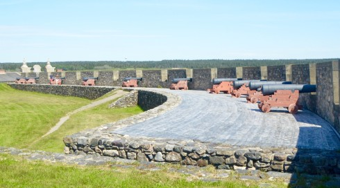 Cannons of Fortress Louisbourg Facing out to Sea