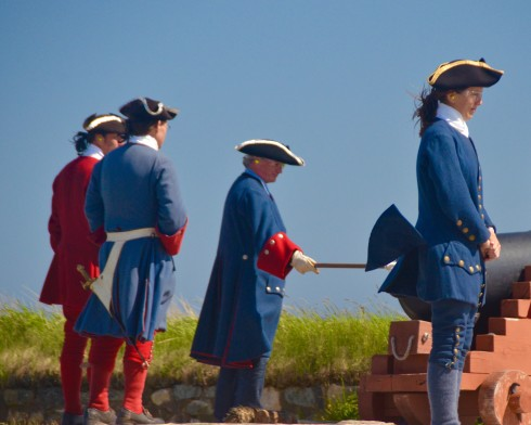 Firing the Cannon at Fortress Louisbourg