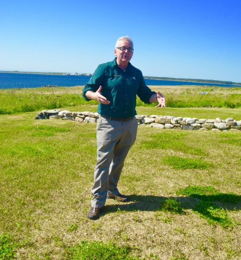 Lester Marchand, governor of Fortress Louisbourg