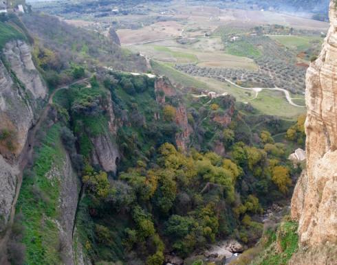 Looking down from Puente Nuevo, Ronda