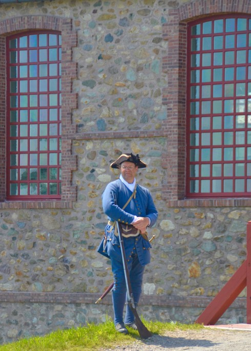 Guarding the Entrance to the Barracks