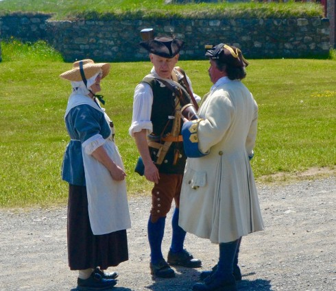 Louisbourg People in Conversation at Fortress Louisbourg