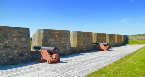Cannons facing General Wolfe at Fortress Louisbourg