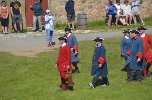 On the March in Fortress Louisbourg