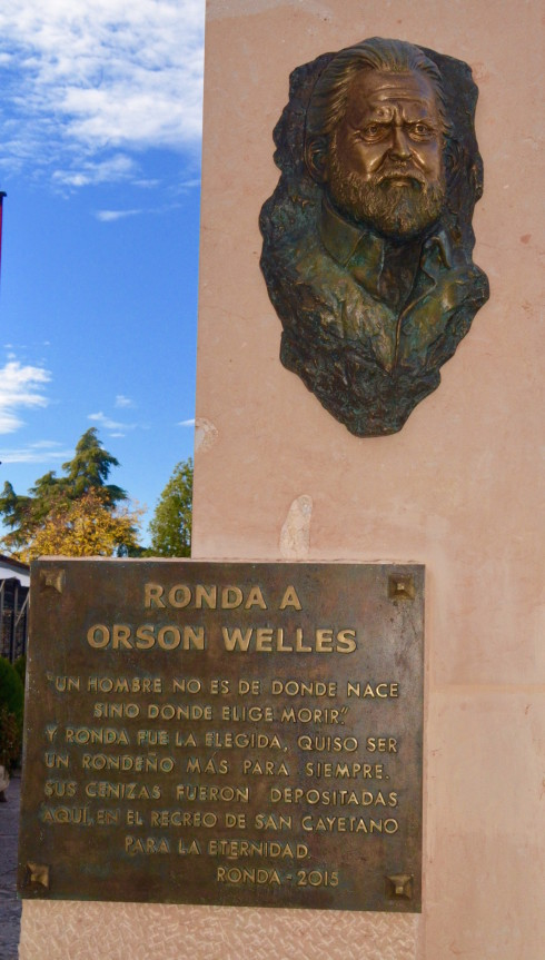 Ronda - Plaque to Orson Welles