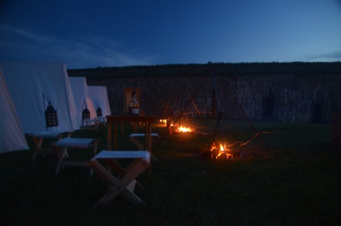 The Campfires Burn at Fortress Louisbourg