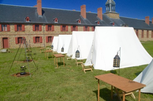 The Encampment at Fortress Louisbourg