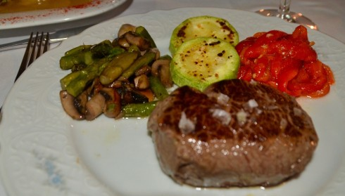 Steak and vegetables, Taberna Luque