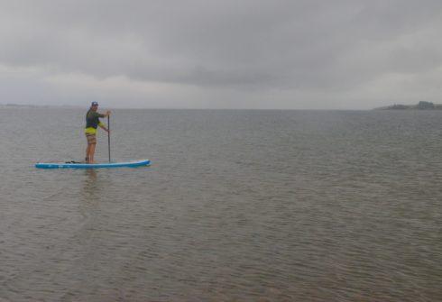 Paddleboarding on Lake Diefenbaker