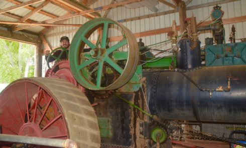 Dale on a 1903 Case Steam Engine Tractor