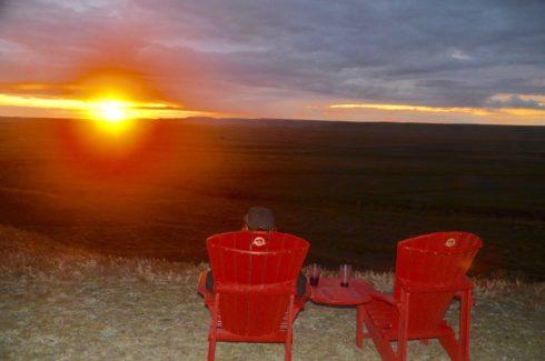 Sunset in Grasslands National Park