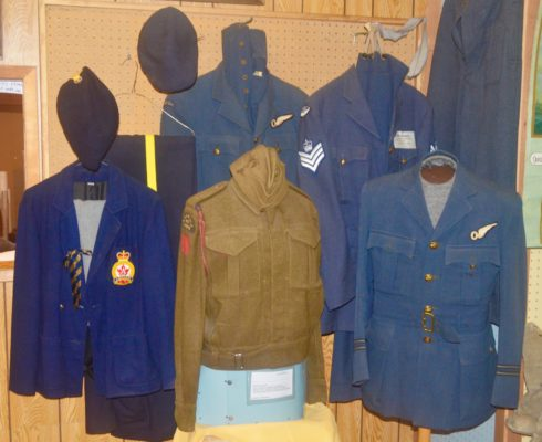 WWII Uniforms, Eastend Historical Museum