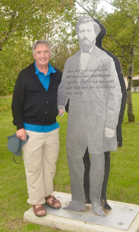 With Louis Riel - Friends at Last