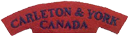 Carleton and York Shoulder Patch