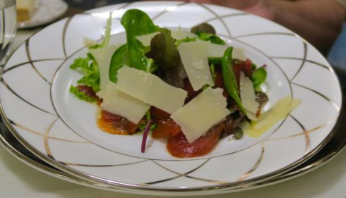 Carpaccio with Fried Watermelon