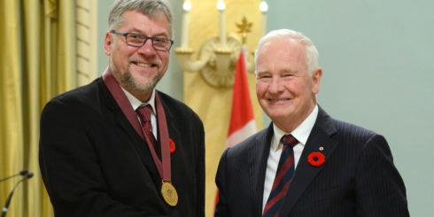 Mark Zuehlke accepts the Governor General's Award