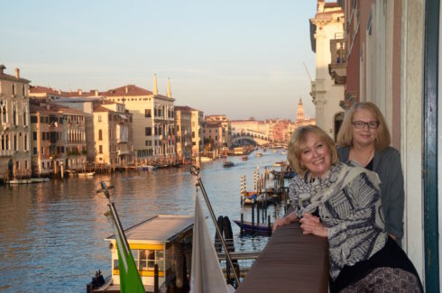 On the Balcony of Palazzo Sant'Angelo
