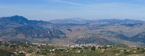 Leonforte from Mount Assoro