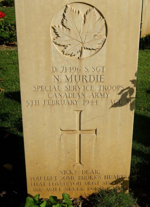 Staff Sergeant Nicholas Murdie