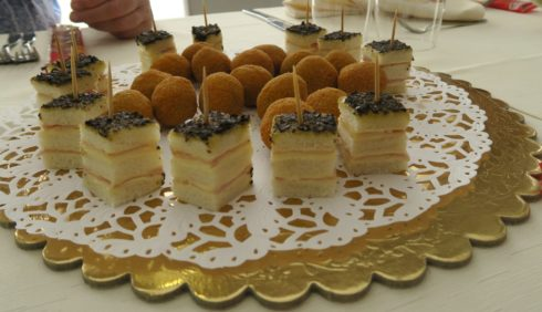 Petit Fours and Stuffed Olives