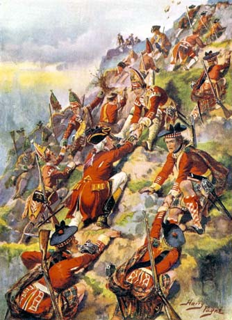 General Wolfe's Men Climb the Cliffs of Quebec