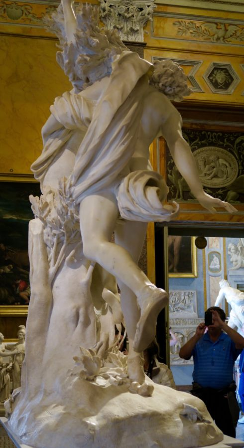 Back View of Apollo and Daphne