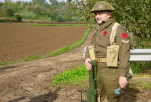 Canadian Soldier at the Liri Valley