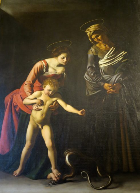Caravaggio - Madonna and Child with St. Anne