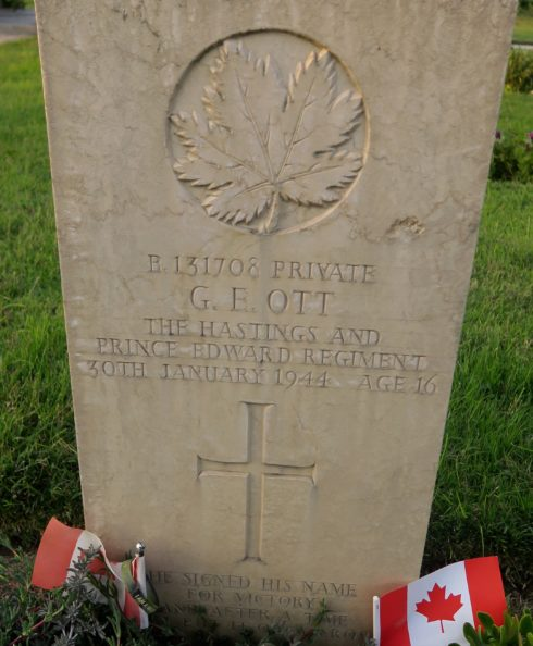 Private Gordon E. Ott