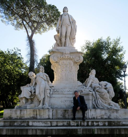 Visiting Gorthe in Borghese Gardens