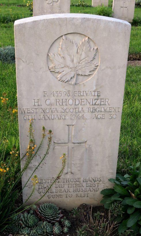 Private Hector Chester Rhodenizer