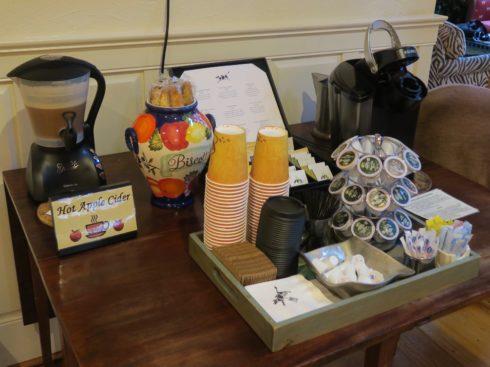 Hot Cider, Biscotti, Coffee & Tea
