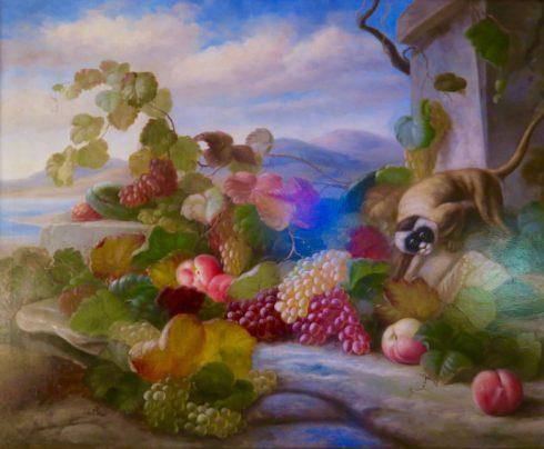 Monkey with Fruit
