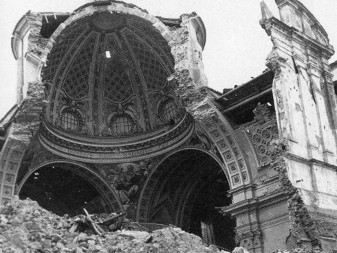 Ortona Cathedral in December, 1943