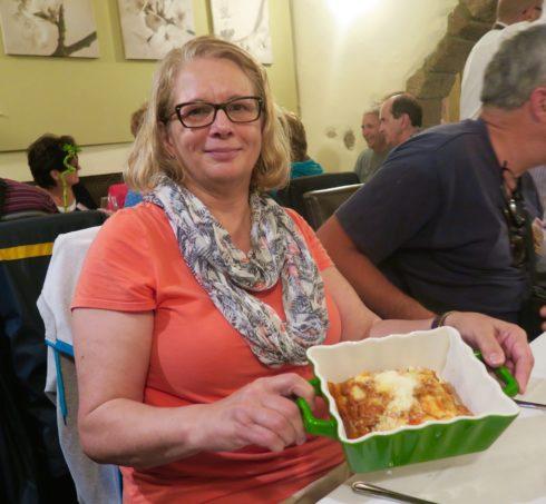 Lasagna at Il Borgo