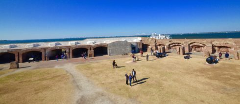 Photo of Interior of Fort Sumter
