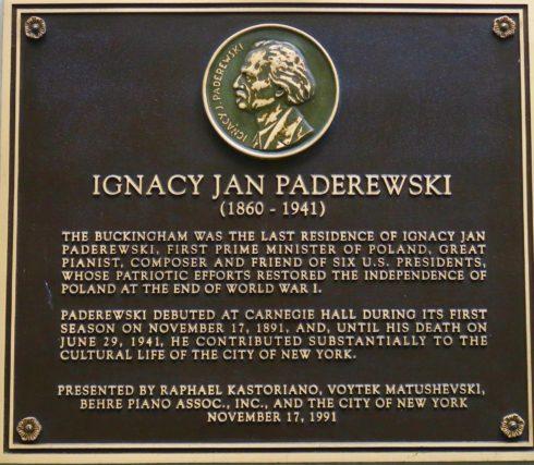 Paderewski Lived Here