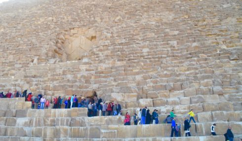 Hordes Waiting to Enter the Great Pyramid