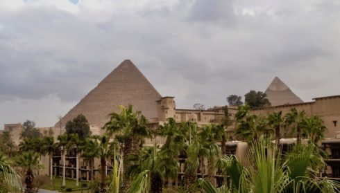 View of the Pyramids from Mena House