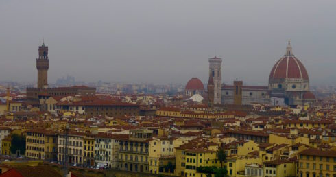Florence from the Michaelangelo Piazza