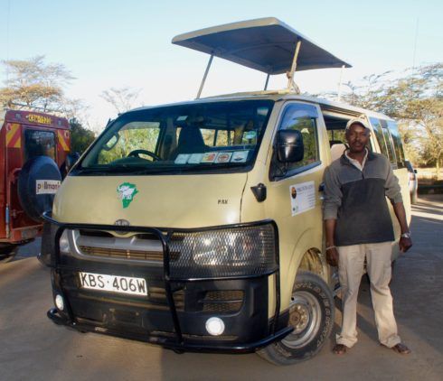 Our Driver Richard and our Vehicle