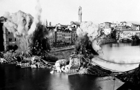 San Trinita Bridge Destroyed