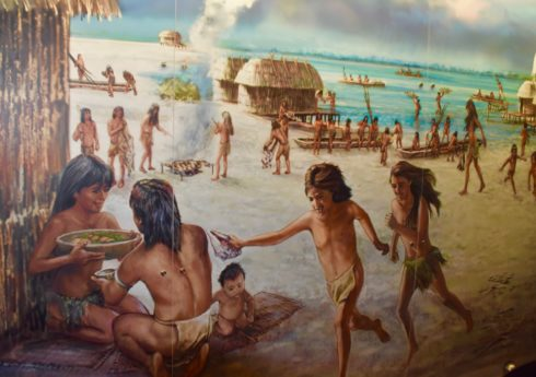 Calusa Mural about Mound Key