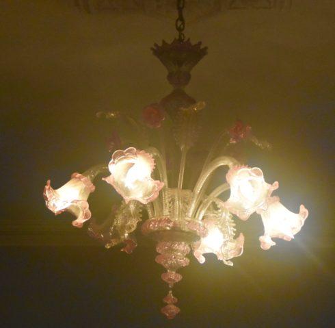 Murano Glass Chandelier, Hemingway House
