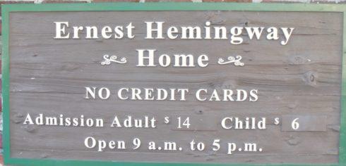 No Credit Cards, Hemingway House