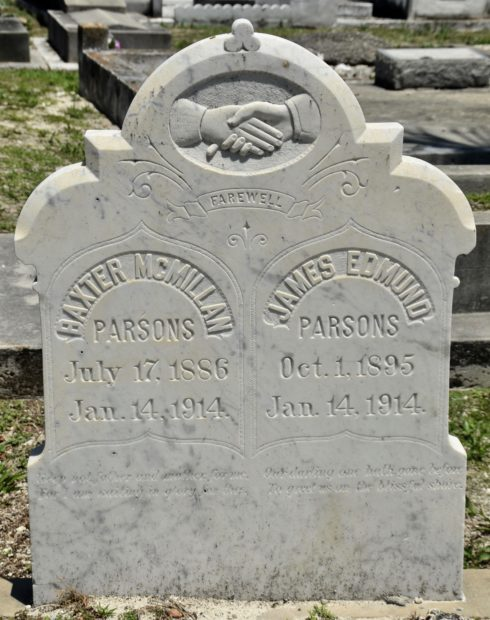 James & Baxter Parsons, Key West Cemetery
